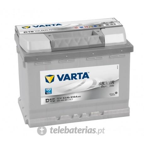 Batería varta d15 12v 63ah