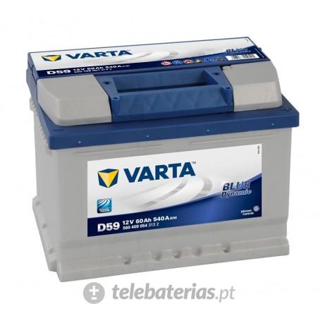 Batería varta d59 12v 60ah