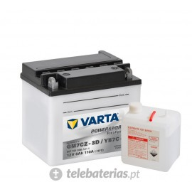 Varta Gm7Cz-3D Yb7C-A 12V 7Ah battery