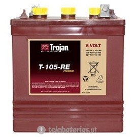 Trojan T-105-Re 6V 225Ah battery