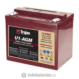 Trojan U1 - Agm 12V 33Ah battery