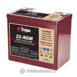 Trojan 22 - Agm 12V 50Ah battery