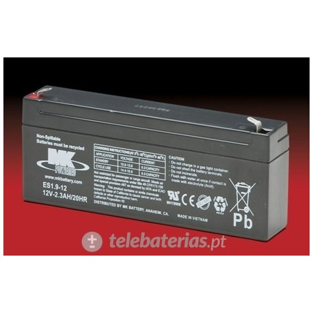 Batería mk powered es1.9-12 12v 2,3ah