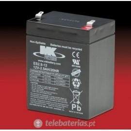 Mk Powered Es2.9-12 12V 2,9Ah battery