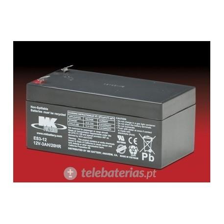 Mk Powered Es3-12 12V 3Ah battery