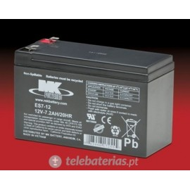 Batterie mk powered es7-12 12v 7,2ah