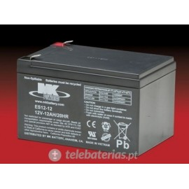 Mk Powered Es12-12 12V 12Ah battery