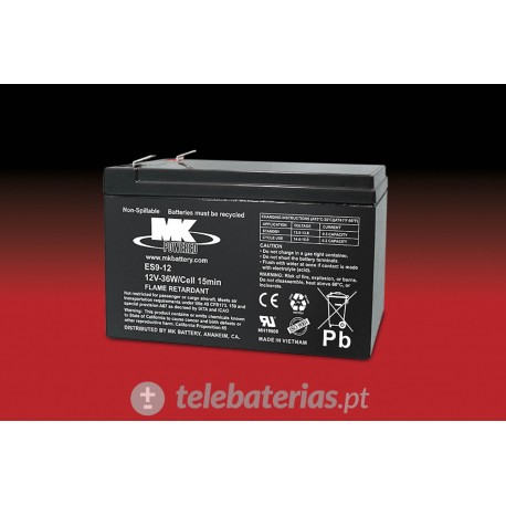 Mk Powered Es9-12 12V 9Ah battery