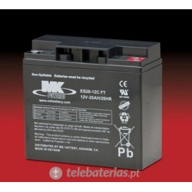 Mk Powered Es20-12Cft 12V 20Ah battery