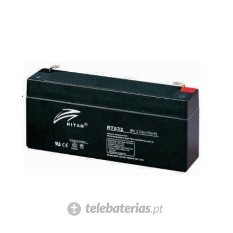 Ritar Rt632 6V 3.2Ah battery