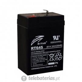 Batería ritar rt645 6v 4.5ah