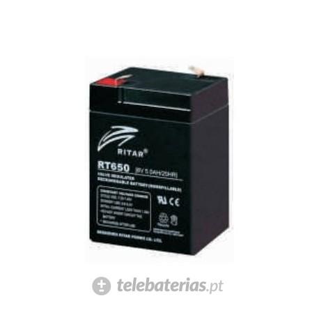 Batería ritar rt650 6v 5.0ah