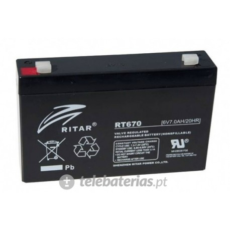 Ritar Rt670 6V 7Ah battery