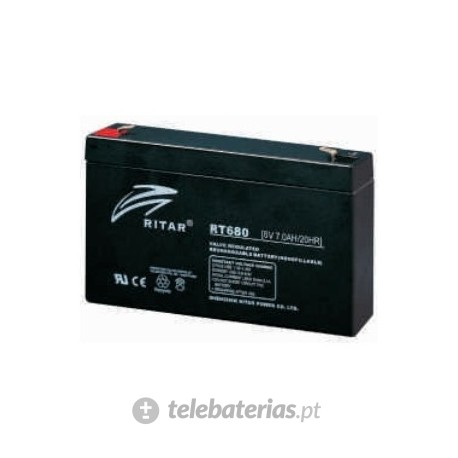 Batterie ritar rt680 6v 8ah