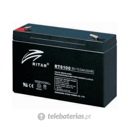 Batterie ritar rt6100 6v 10ah