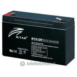 Batería ritar rt6120 6v 12ah