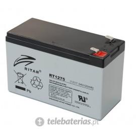 Batería ritar rt1275 12v 7.5ah