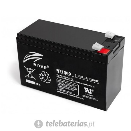 Batterie ritar rt1280 12v 8.0ah