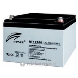 Batería ritar rt12260s 12v 26ah