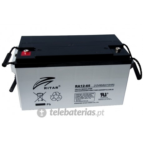 Batería ritar ra12-65 12v 65ah