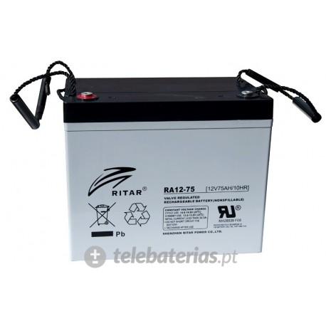 Batería ritar ra12-75 12v 75ah