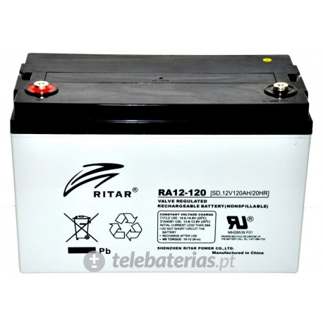 Batería ritar ra12-120 12v 129ah