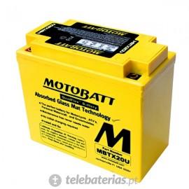 Motobatt 12N163A, 12N163B, 12N164A, 12N164B, Ytx20Bs, Ytx20 12V 21Ah battery