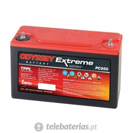 Batería odyssey pc950 12v 34ah