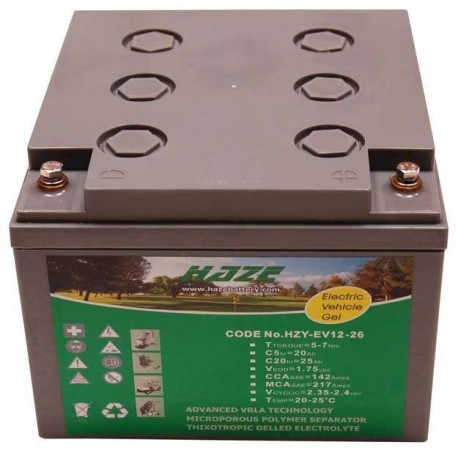 Haze Hzy-Ev12-26 12V 25Ah battery
