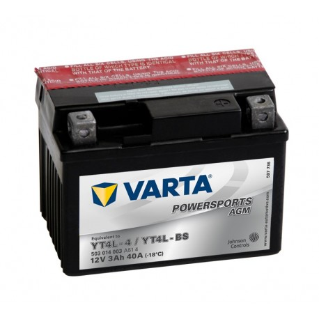 Varta Yt4L-4 Yt4L-Bs 12V 3Ah battery
