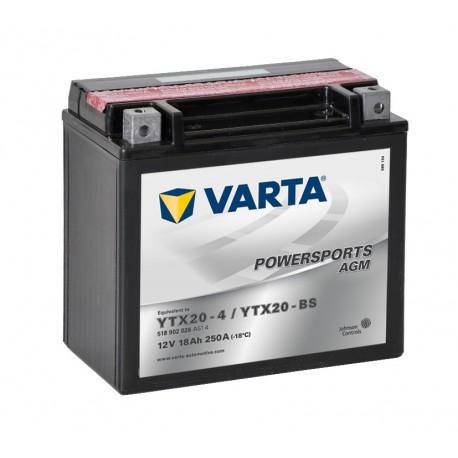 Batería varta ytx20-4 ytx20-bs 12v 18ah